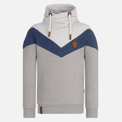 Pure Color Long Sleeve Hooded Pullover Men's Hoodie
