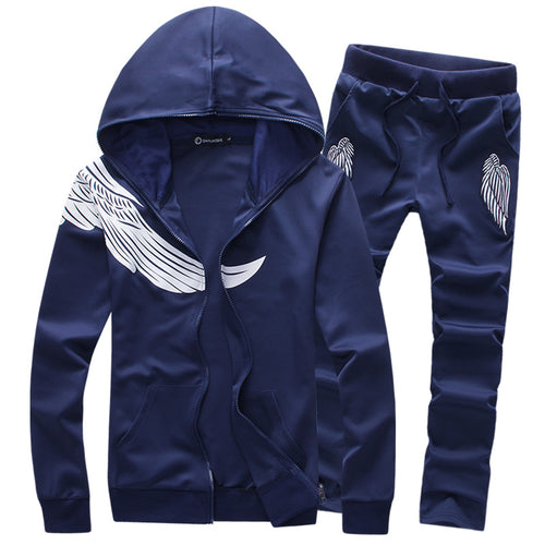 Pure Cotton Wings Pattern Men Sports Suit