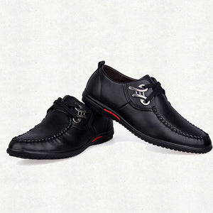 Breathable Plain Lace Up Men's Oxfords