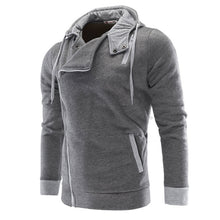 Asymmetric Cotton Long Sleeve Hooded Men's Hoodies