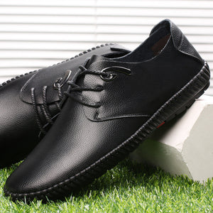 Casual Leather Beanie Shoes