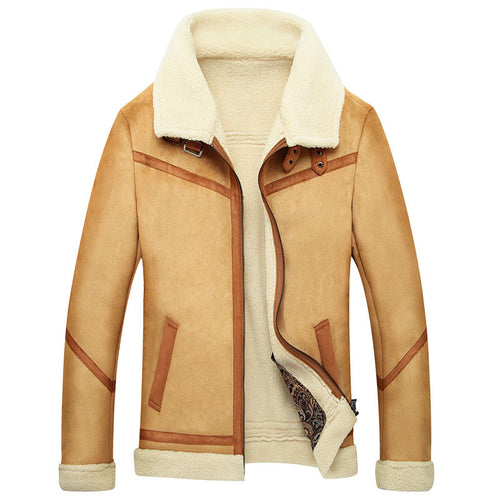 Plus Size Lapel Zipper Worn Casual Men's Jackets Coat
