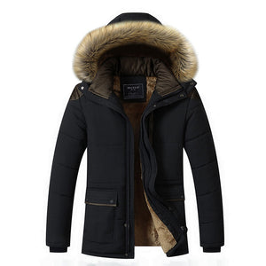 Plain Zipper Pocket Polyester Nylon Men's Down Coat