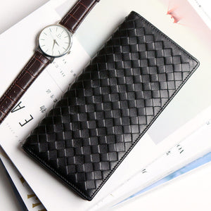 Fashion  Leather Weave Wallet