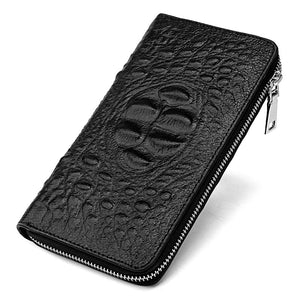 Printed Hand Covered Leather Men's Wallets