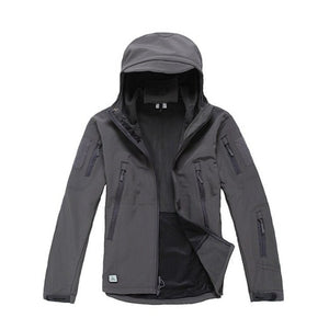 Men's Outdoor Hooded Waterproof with Zip Pocket Coat