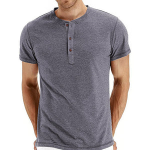 Pure Color Simplicity Pullover Men's T-shirt