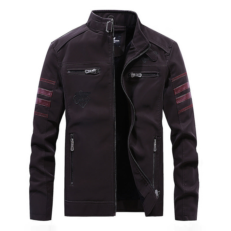 Retro Personality Short Patchwork Men's Jacket