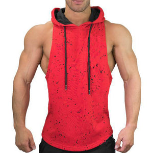 Body-building Camouflage Cotton Sleeveless Men's T-shirt