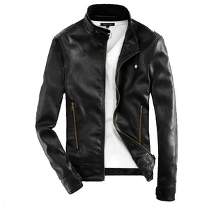 Leisure And Self-cultivation Men's Pleather Coat