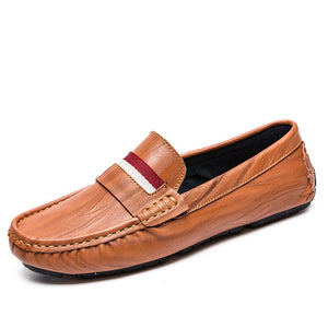 Wear Resistance Recreational Driving Round Head Men's Loafers