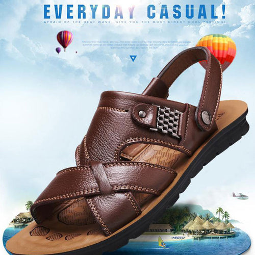 Large Size Beach With Soft Bottom Men's Sandals