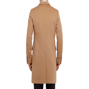 Self-cultivation And Leisure Solid Color Men's Trench Coats