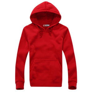 Solid Color Hooded Man's Hoodies