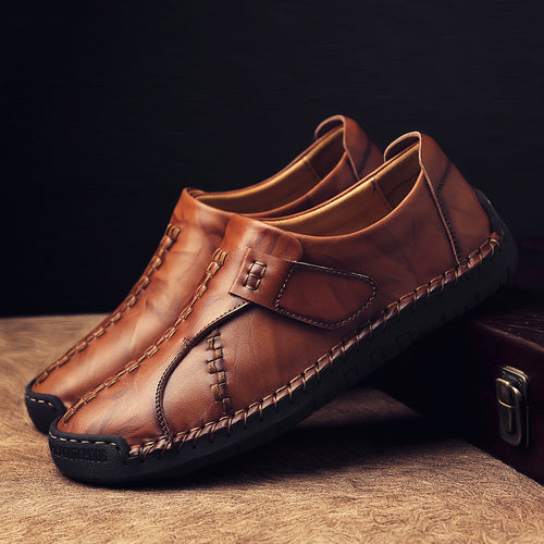 Hand-made Large-size Solid Color Men's Casual Shoes