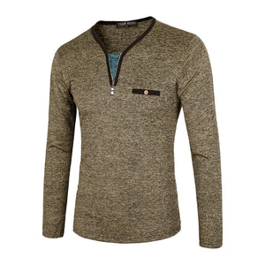 Slimming Bottom Shirt With Long Sleeves Men's Sweatshirt