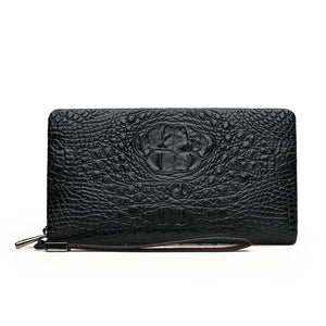Print Croco High Capacity Men's Wallets