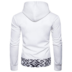 Stitching Sleeve And Hat Recreation Men's Hoodie