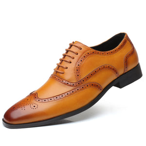 Relief Printing Business Men's Formal Shoes