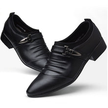 Breathable  Wear Resistant Pleated Men's Oxfords