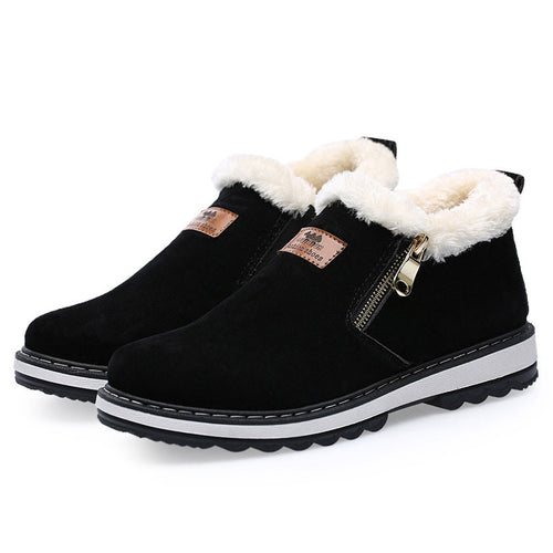 Warmth Zippered Antislip Men's Boots