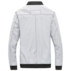Baseball Collar Zipper Loose Men's Jacket