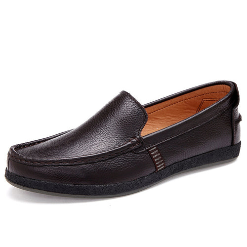 Rubber Sole Comfortable Flat Bottom Men's Loafers