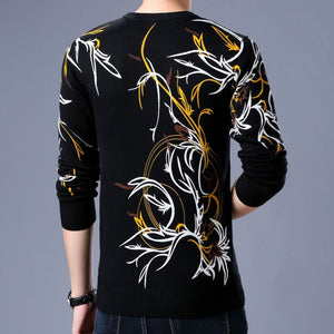 Animal Long Sleeve Pullover Round Neck  Men's Sweatshirt
