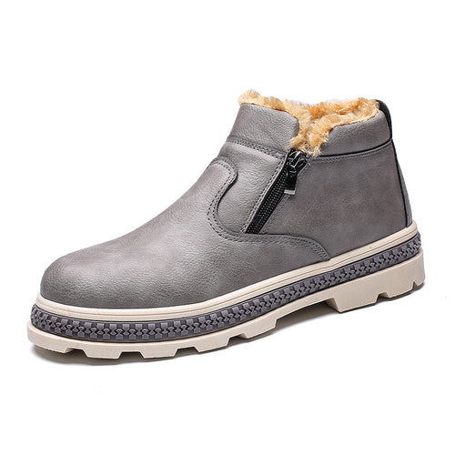 Warmth Wear Resistant Antislip Men's Leather Boots