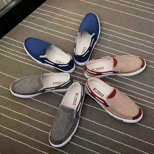 Canvas Is Breathable And Light Men's Canvas Shoes