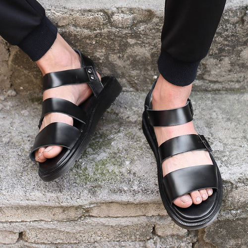 Non-slip Solid Color Breathable Men's Sandals