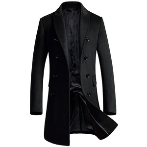 Casual Brief Double-Breasted Men's Trench Coat