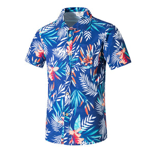 Loose Printing On Beach Leaves Men's T-shirt