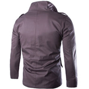 Big Size For Self-cultivation Pure Color Men's Jackets Coats