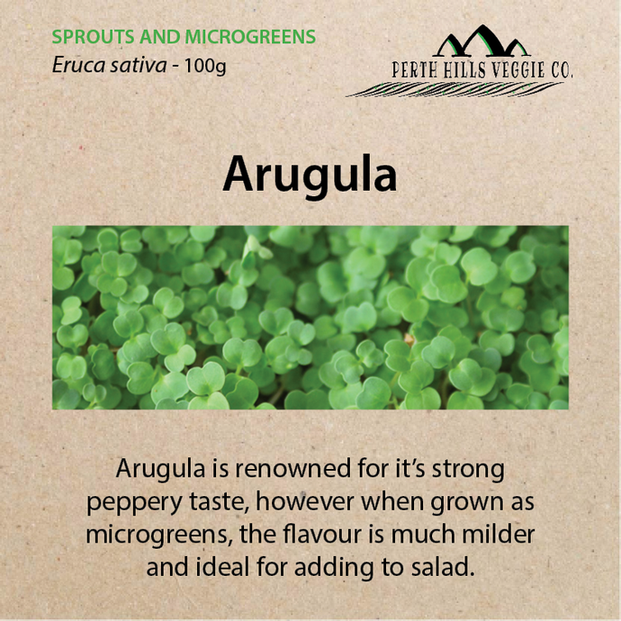 Arugula Microgreen Seeds (100 grams)