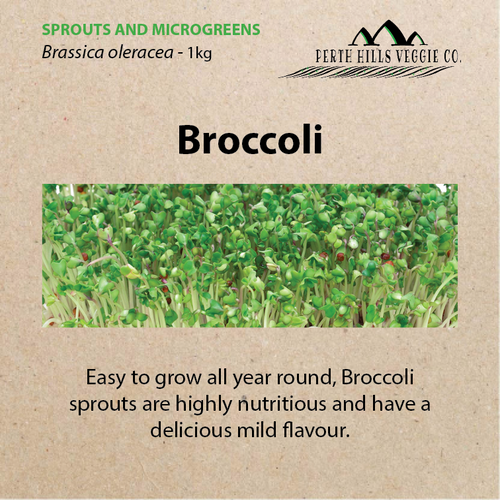Broccoli Sprouting Seeds (1kg Bulk Pack)
