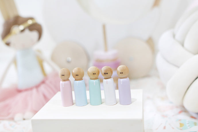 FIVE Pastel Peggies