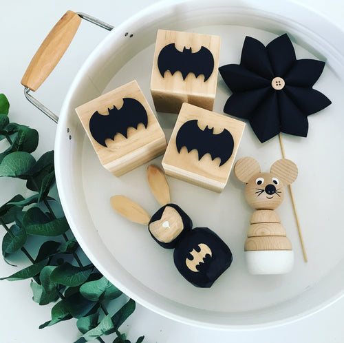 THREE Black Batman Blocks-Wings- SALE!!