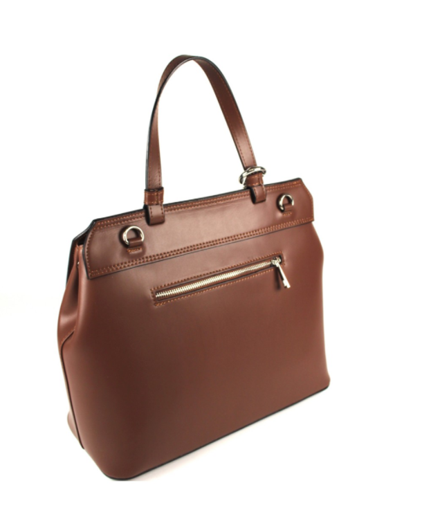 Chocolate Alba Luxury Tote Handbag