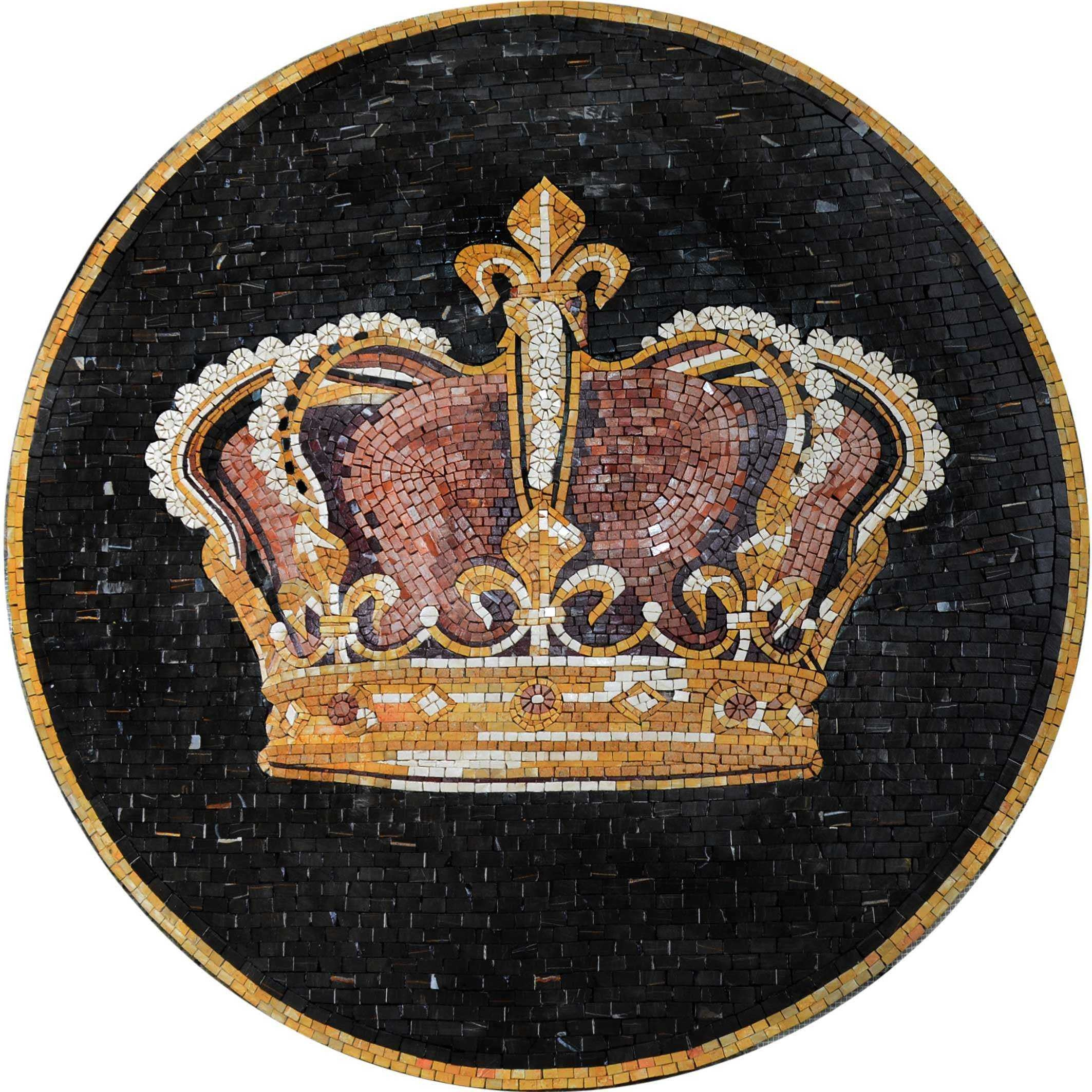 Royal Crown Mosaic Medallion