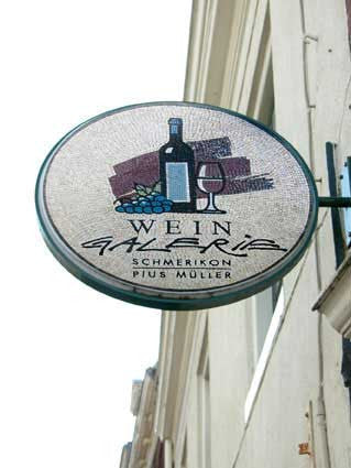 Sign for a Wine Shop Outdoor Installation