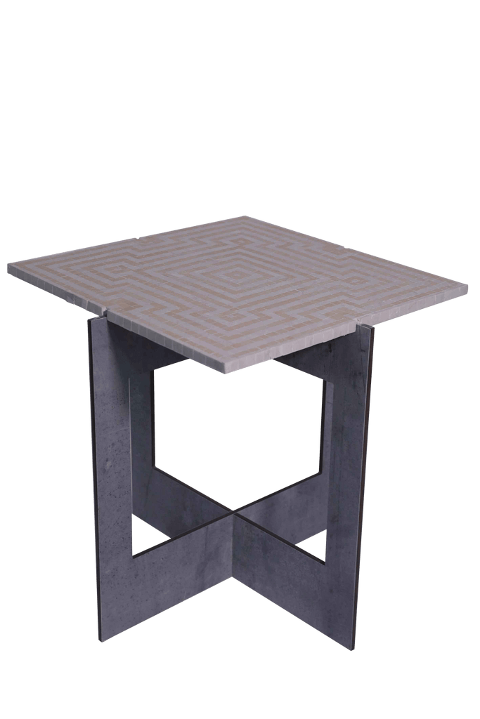 Square Maze Mosaic Table