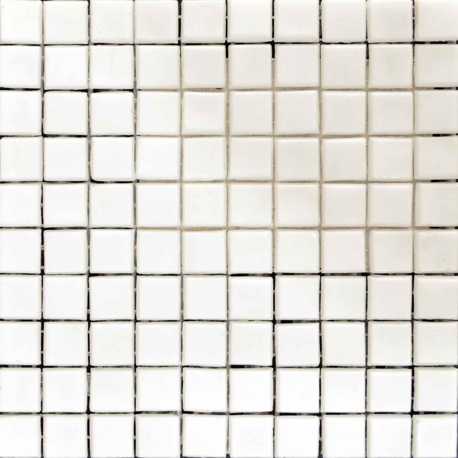 Mosaic Plain Sheet Blanco Pic