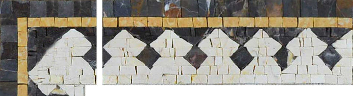 Mosaic Corner Art - Pattern Tiles