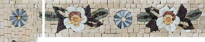 Mosaic Corners - Abstract Floral