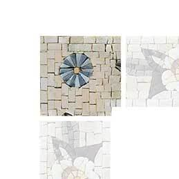 Abstract Flower Mosaic Art Corner