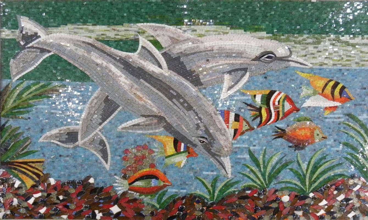Dolphins Mosaic