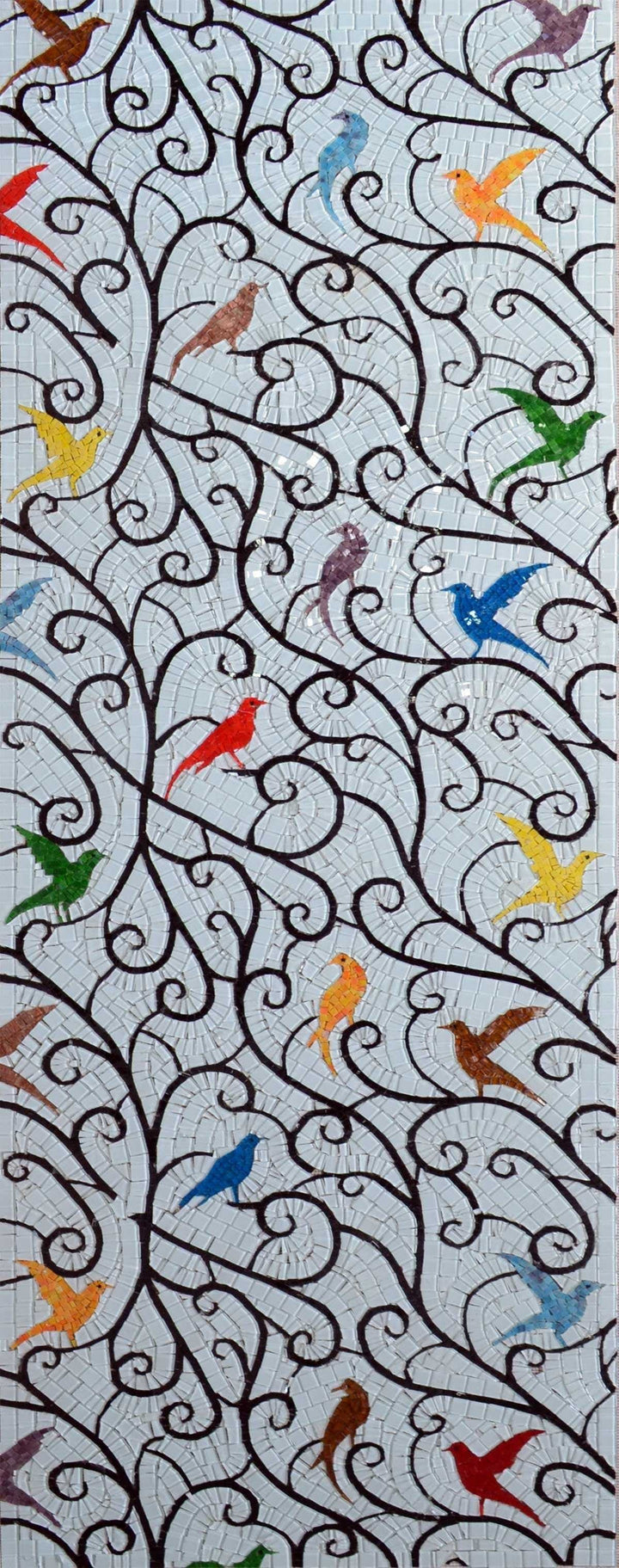 Mosaic Tile Patterns - Colorful Birds