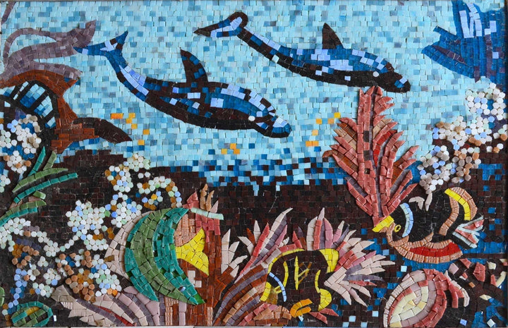 Glass Aquatic Mosaic