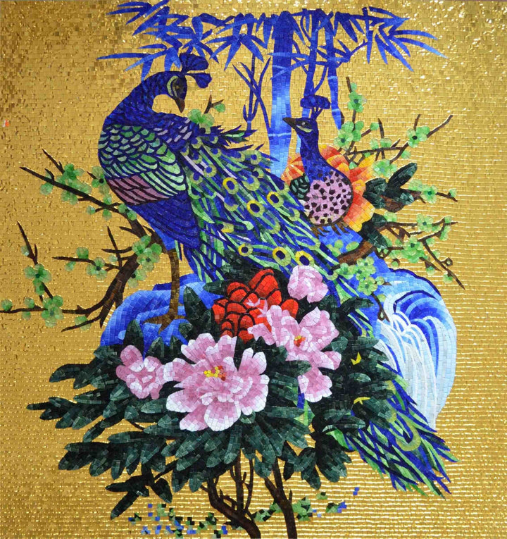 Mosaic Wall Art - Peacock Muse